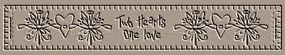 Two Hearts One Love Towel Band