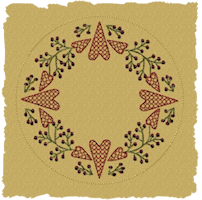 Machine-Berry Heart Candle Mat-Motif