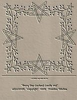 #EDCM105 Berry Star Garland Candle Mat
