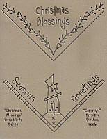 Christmas Blessings Bread Cloth