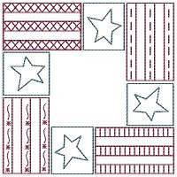 Machine-Our Flag Candle Mat-5 Inch & Larger