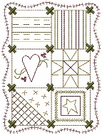 Machine-Running Stitch Quilt 5x7
