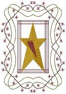 Machine-Star Berry Quilt 5X7