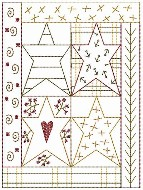Machine-Star Quilt Sampler 5x7