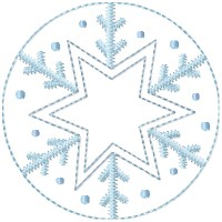 Machine-Star Snowflake Candle Mat -4 inch & Larger