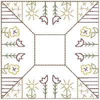 Machine-Flower Patch Candle Mat 5 inch & Larger
