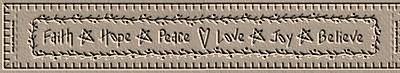 Faith, Hope, Peace Towel Band