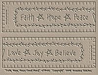 Faith, Hope, Peace Towel Band