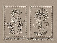 Folk Floral Hand Towel 1