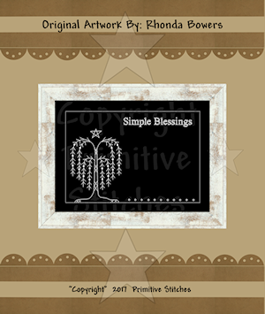 GRAPHICS-Simple Blessings Willow-8x10-WHITE