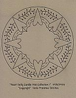 Heart Doily Candle Mat Coll. 1