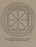 Heart Doily Candle Mat Collection 2