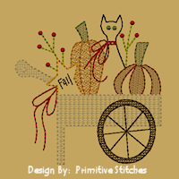 PS-MACHINE-Pumpkin Cart-5x7-Motif/Redwork