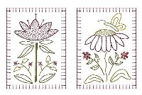 Machine-Spring Floral Hand Towel Blocks - 4 Inch & Larger