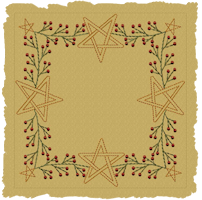 Machine-Berry Star Garland Candle Mat-Colorworks