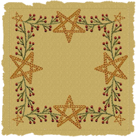 Machine-Berry Star Garland Candle Mat-Motif