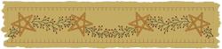 Machine-Berry Star Garland Towel Band-Motif