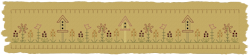 Machine-Birdhouse Flower Patch Towel Band