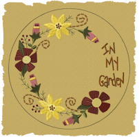 Machine-In My Garden Candle Mat-Fill