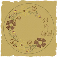 Machine-In My Garden Candle Mat-Colorwork/Motif