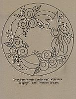 Prim Rose Wreath Candle Mat