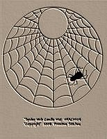 Spider Web Candle Mat