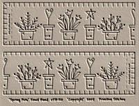 Spring Pots Towel Band