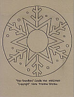 Star Snowflake Candle Mat