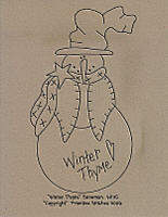 Winter Thyme Snowman